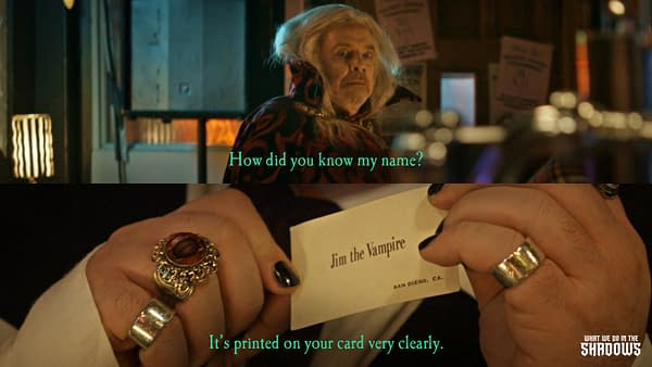 Jackie knows Jim the Vampire's name very easily on What We Do in the Shadows, courtesy of FX Networks.
