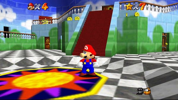 Super Mario 64 PC is a cleaned-up HD version of the original 1996 classic.