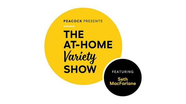 Here's a look at the logo for Seth MacFarlane's The At-Home Variety Show, courtesy of Peacock.
