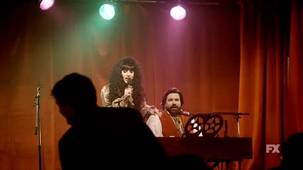 Nadja and Laszlo perform on What We Do in the Shadows, courtesy of FX Networks.