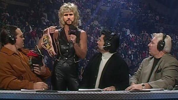 An artist's interpretation of Adam Cole jumping from NXT to AEW.
