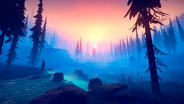 The vast and beautiful wilderness of Among Trees, courtesy of FJRD Interactive.