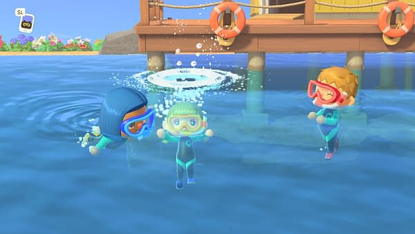 Finally we get to swim in Animal Crossing: New Horizons, courtesy of Nintendo.
