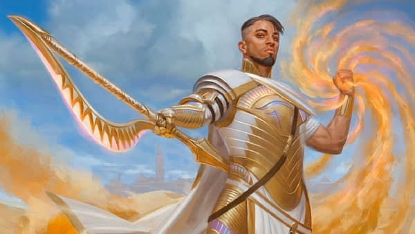 The artwork for Basri Ket, a new planeswalker from the ancient, practically-dead plane of Amonkhet. Basri is illustrated by Kieran Yanner.