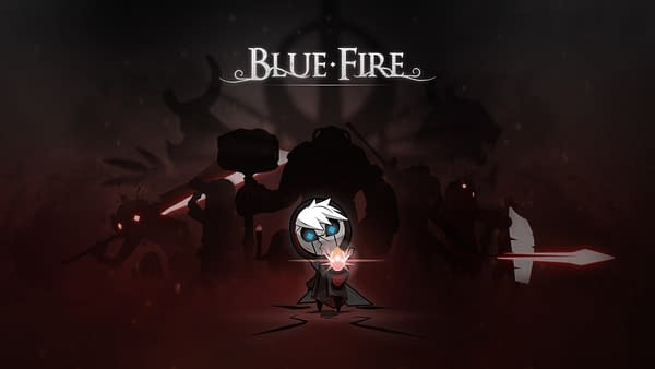 Key art for action-adventure indie game Blue Fire, created by Graffiti Games and Robi Studios.