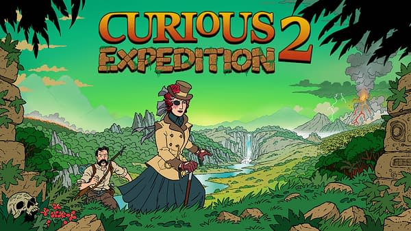 The key art for Curious Expedition 2, an indie exploration game by Thunderful Publishing and developer Maschinen-Mensch.