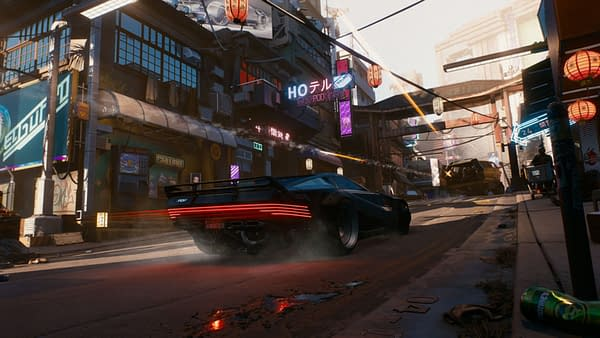 Looks like the only thing I have to get around the city is this expensive car.  Greetings from CD Projekt Red.