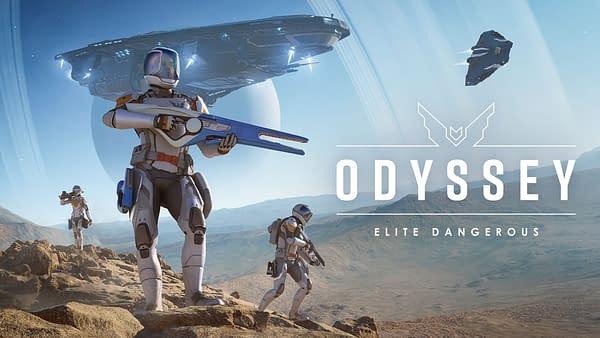 Key art for Elite Dangerous: Odyssey, by Frontier Developments. Out early 2021.