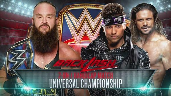 Braun Strowman defends the Universal Championship in a Handicap Match Against Miz and Morrison (WWE)