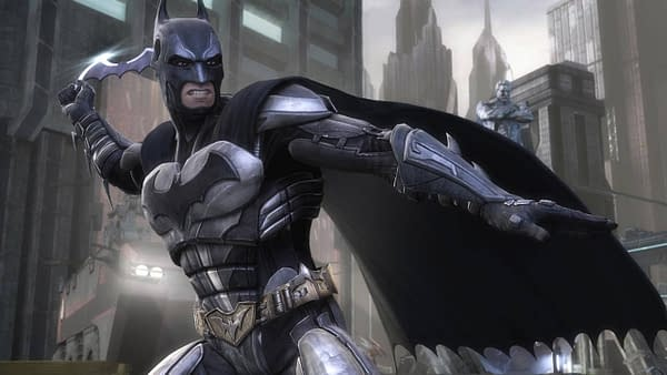 Batman attempts to save his Earth in Injustice; Gods Among Us. Courtesy of WB Games.