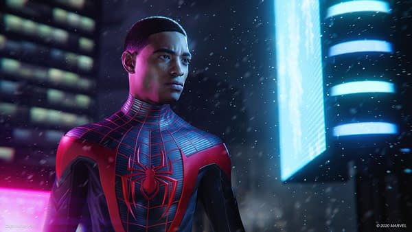 A look at Miles in Marvel's Spider-Man: Miles Morales, courtesy of Insomniac Games.