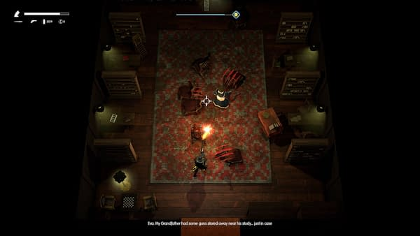 A screenshot featuring gameplay from One Shell Straight To Hell by Feademic and Shotgun With Glitters.