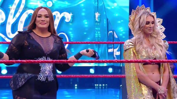Nia Jax and Charlotte Flair on WWE Raw