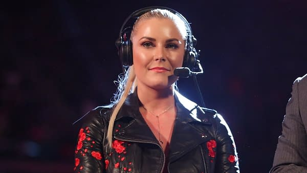 WWE's Renee Young doing commentary for Monday Night Raw (Image: WWE)