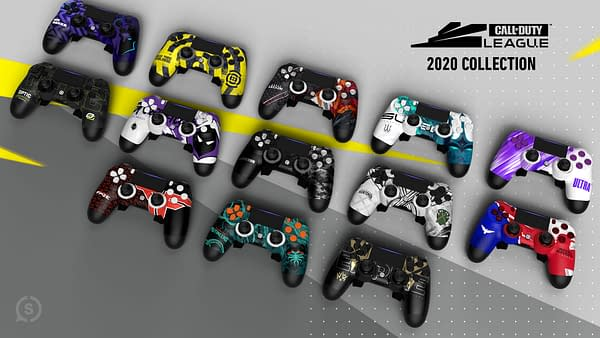 A look at the complete set of COD League controllers, courtesy of SCUF Gaming.