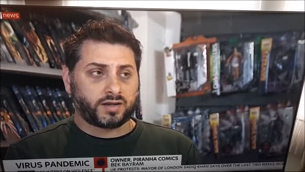 Piranha Comics of Kingston Upon Thames on Sky News