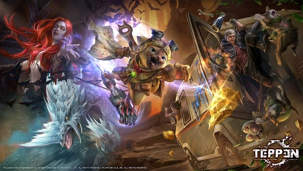 Felyne jumps into the fray in TEPPEN, courtesy of GungHo Online.