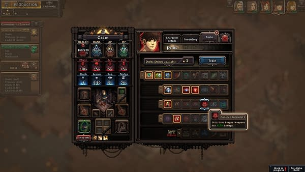 A screenshot from indie RPG The Last Spell by developer The Arcade Crew and publisher CCCP, showcasing the in-game customization screen.