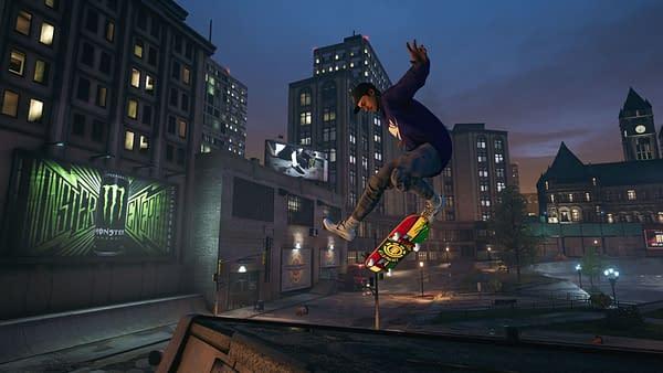 A look at Nyjah Huston in Tony Hawk's Pro Skater 1 + 2, courtesy of Activision.