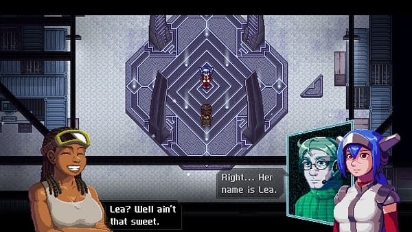 A screenshot of CrossCode, an indie game by ININ Games, Deck13, and Radical Fish Games.