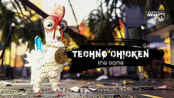 Key Art for Techno Chicken, an indie chicken simulator from the minds of developer Titan GameZ and publisher PlayWay.