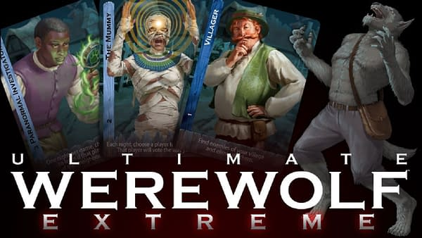The header for Bezier Games' upcoming Kickstarter project, Ultimate Werewolf Extreme.