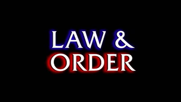 The logo for Dick Wolf's Law & Order, courtesy of NBCU.