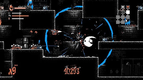 A screenshot from Nongunz: Doppelganger Edition, an indie game developed by Brainwash Gang and published by Digerati.