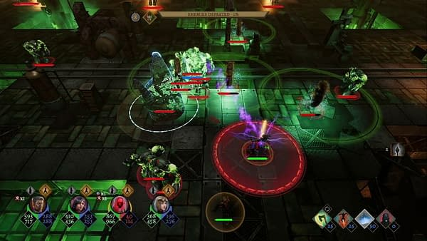 A combat screenshot from Tower of Time, an indie game by Digerati and Event Horizon.