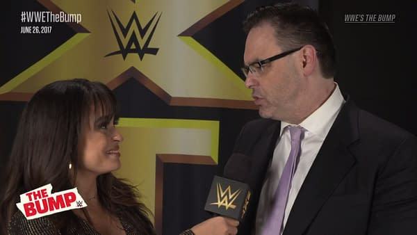 Mauro Ranallo looks back on his first day working for NXT during the WWE The Bump In Your House pre-show.