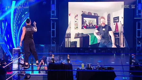 WWE Smackdown 7/3/20 Part 2 - Did Sheamus Make Jeff Hardy Relapse? (Image: WWE)