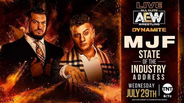 MJF will deliver a State of the Industry Address on AEW Dynamite this Wednesday.