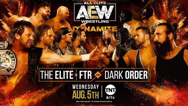 The Elite and FTR will take on The Dark Order in a big 12-man tag match on AEW Dynamite next week.