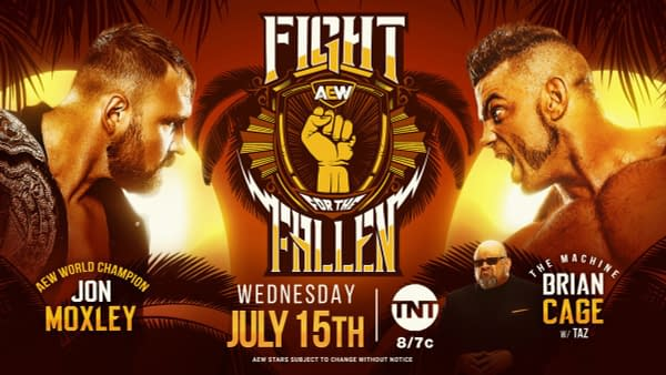 Jon Moxley vs. Brian Cage is now the main event of Fight for the Fallen (Image: AEW)