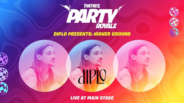 Diplo takes the stage one last time in Party Royale, courtesy of Epic Games.