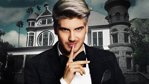 An image of YouTube star Joey Graceffa in his role for his web series Escape The Night, in promotion of the upcoming game. by Studio71 Games.