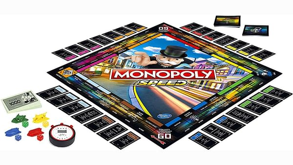 A look at the game board for Monopoly Speed, courtesy of Hasbro.