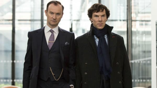 A look at Mycroft and Sherlock (Image: BBC)