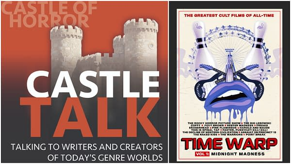 Castle Talk Podcast logo and Time Warp poster used by permission.