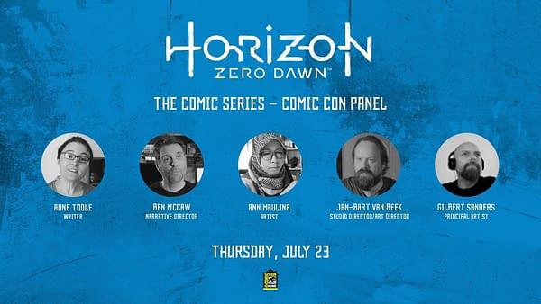 Horizon Zero Dawn panel promo. Credit: Titan Comics.