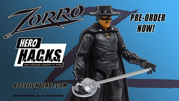 Zorro Saves the Day with New Hero H.A.C.K.S from Boss Fight Studio