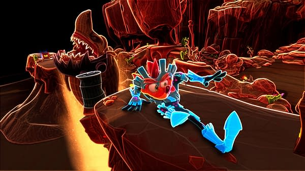 A look at N-Verted Mode in Crash Bandicoot 4, courtesy of Activision.