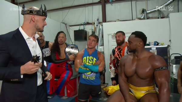 King Corbin and Big E try to rally the troops against Retribution on WWE Smackdown
