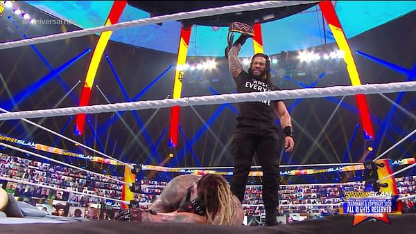 Roman Reigns returned to wrestling at WWE SummerSlam, but he had a new t-shirt and new pair of teeth.