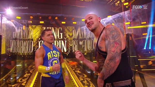 Baron Corbin, The Ratings King of Friday Nights, teams with Shorty G to drive Smackdown to another victory.