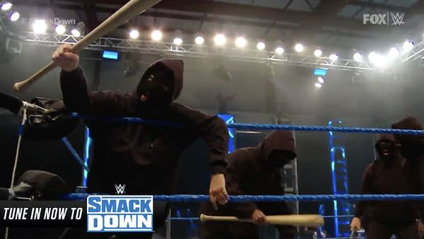 """Retribution, the new """"non-political"""" Antifa-like stable, debuts on WWE Smackdown"""