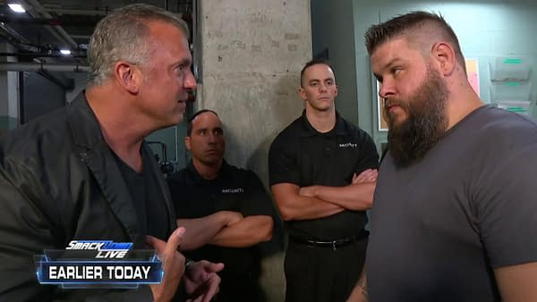 The face of a new generation, Shane McMahon, appears on WWE Smackdown with Kevin Owens.