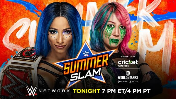 Sasha Banks defends her Raw Women's Championship against Asuka at WWE SummerSlam