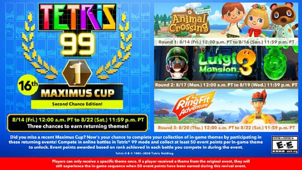Its a round of second chances in the next Maximus Cup, courtesy of Nintendo.