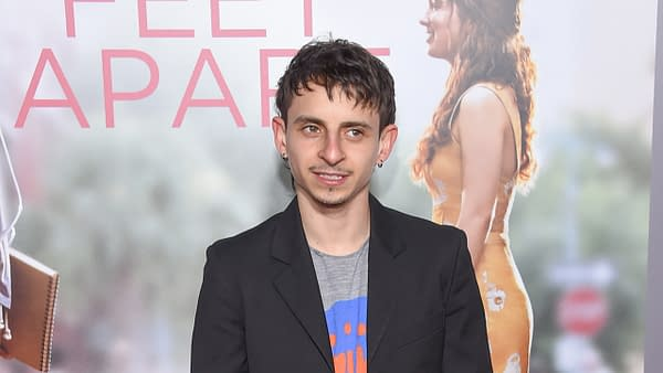Moises Arias arrives for the 'Five Feet Apart' Los Angeles Premiere on March 07, 2019 in Westwood, CA